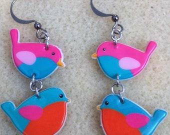 Cute flock of birds earrings