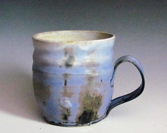 Blue Cups, Coffee or Tea Mug, Ceramic Mugs, Pottery Mugs, Stoneware Mugs, Handmade Wheel Thrown High Fired, Gift for Him or Her, Kitchen