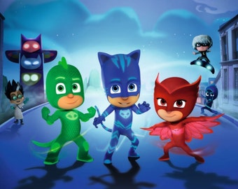 PJ Masks Giclee Print Movie Poster FREE SHIPPING