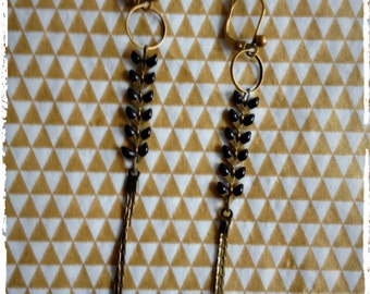 Retro earrings chain spikes