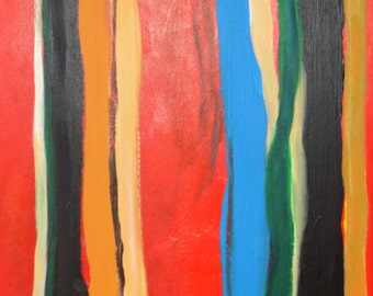 Impressionistic Still Life Painting of a Closet in Red