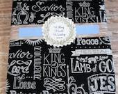 Chalkboard Names of Jesus Journal Cover