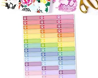 Paw Print, Pet Little Things/Labels    Vertical    44 Planner Stickers    Erin Condren Life Planner
