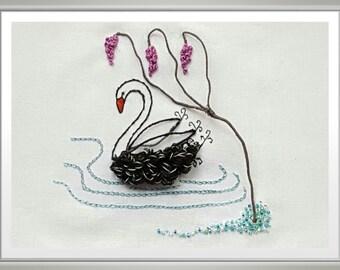 Swan Lake Stumpwork & Embroidery Kit
