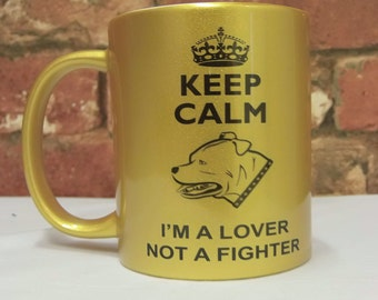 Dog Mug I'm a Lover Not a Fighter