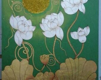 Handmade Painting Thai acrylic hand paint wall art