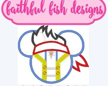 Mickey Jake Applique Design, Mickey Mouse Design, Mickey Embroidery, Jake and the Neverland Pirates, Pirate Mickey