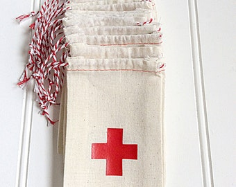 3x5 Hangover Kit Bag With  Red Cross