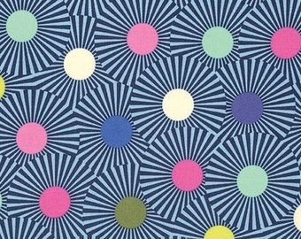 TULA PINK Slow and Steady Clear Skies in Blue Raspberry PWTP088.Bluer - cotton fabric quilting cotton freespirit geometric metre yard