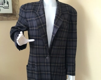 Vintage 1980s Christian Dior Seperates 100% Wool Blazer Size 14 Made in USA