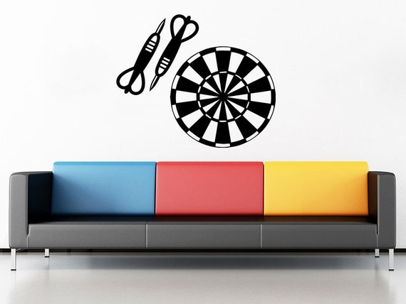 dart wall decal target darts wall decals vinyl by stylewithdecals. Black Bedroom Furniture Sets. Home Design Ideas