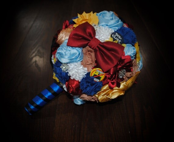 Doctor who themed wedding bouquet for Doctor who themed wedding dresses