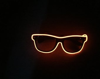 Orange Neon Glasses