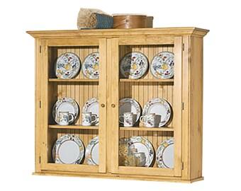 Hutch Top Heirloom Pine Walden Glass Hutch Top Only | Renovators Supply