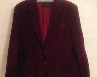 Vintage Women's Maroon Corduroy Jacket