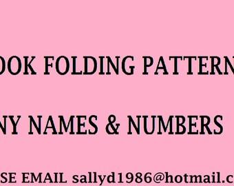 Custom book folding patterns