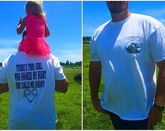 Men's Fishing Shirt, Father Daughter Fishing Shirt, Father's Day Gift, Gift for Dad, Personalized Fishing Shirt