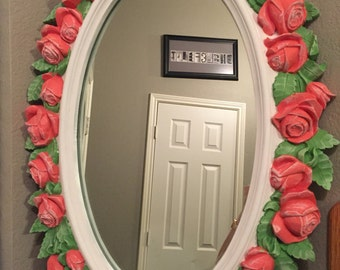 Wall Decor Mirror with Flowers