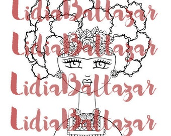 Frida (Digi Stamp)