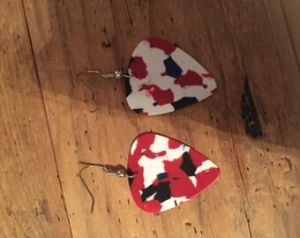 Guitar pic earrings