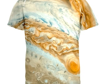 Solar System Planet Jupiter All Over Adult T-Shirt