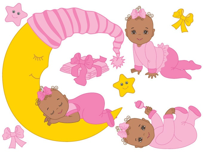 african american baby girl clipart free - photo #17