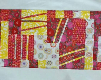 Red and yellow table runner 48X14 inches
