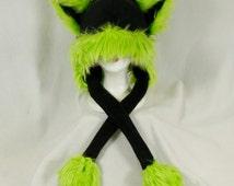 Puffet Kitty Hat - Choose Your Custom Team Color - Kids Teen or Adult Soccer Football Baseball Hockey Sports Team 1013