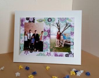 flower picture frame, 4 x 6 picture frame, 5 x 7 picture frame, custom picture frame, wood picture frame, picture frame