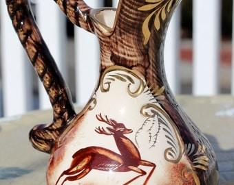 Vintage Belgian H Bequet Ceramic Pitcher/Ewer