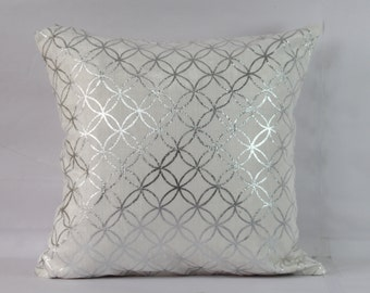 silver foil metalic pillow cover 20x20 inch silver pillow cover 18x18 pillow cases silver throw pillow