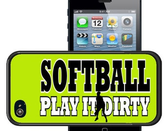 Softball Rubber CASE FOR iPHONES
