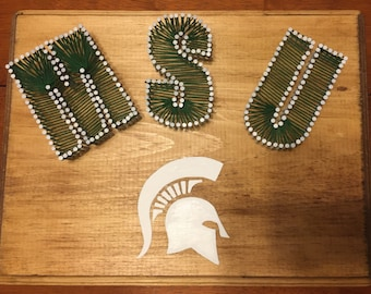 Michigan State String Art