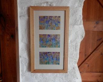 Abstract Painting, Original Artwork, Rainbow Artwork, Triptych, Wall Art