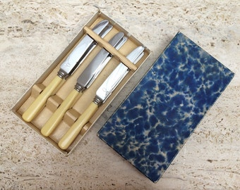 A Vintage Boxed Set Of 6 Tea/Fruit/ Breakfast Knives
