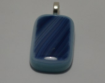 Shades of Blue Fused Glass Pendant