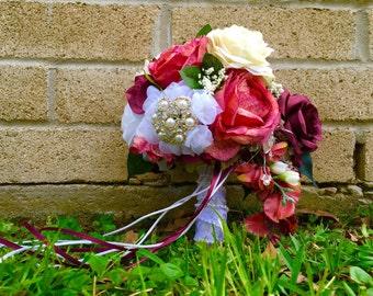 Custom Silk Flower Wedding Set - Bridal Bouquets, Boutonnière, and Corsages!