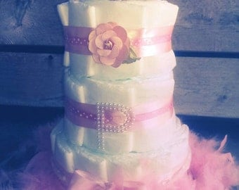 Made to Order Personized Baby Shower Diaper Cake