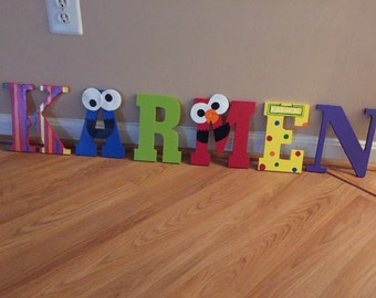 Sesame Street Hand Painted Letters