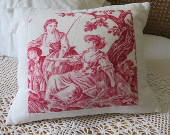 Cushion, French vintage Toile, Antique French Linen