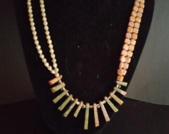 DISCOUNTED multi-strand jasper necklace