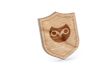 Owl Head Lapel Pin, Wooden Pin, Wooden Lapel, Gift For Him or Her, Wedding Gifts, Groomsman Gifts, and Personalized