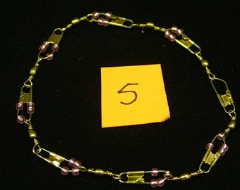 """Meditation Bracelet 7.5"""" long, made with small beads on fishing lure snaps.  Latest in Fashion!!"""