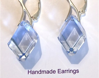 Choose Colour - Swarovski Crystal Elements Earrings & Leaver Back 925 Sterling Silver Hooks
