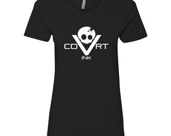 Covrt Skull Womens T-shirt