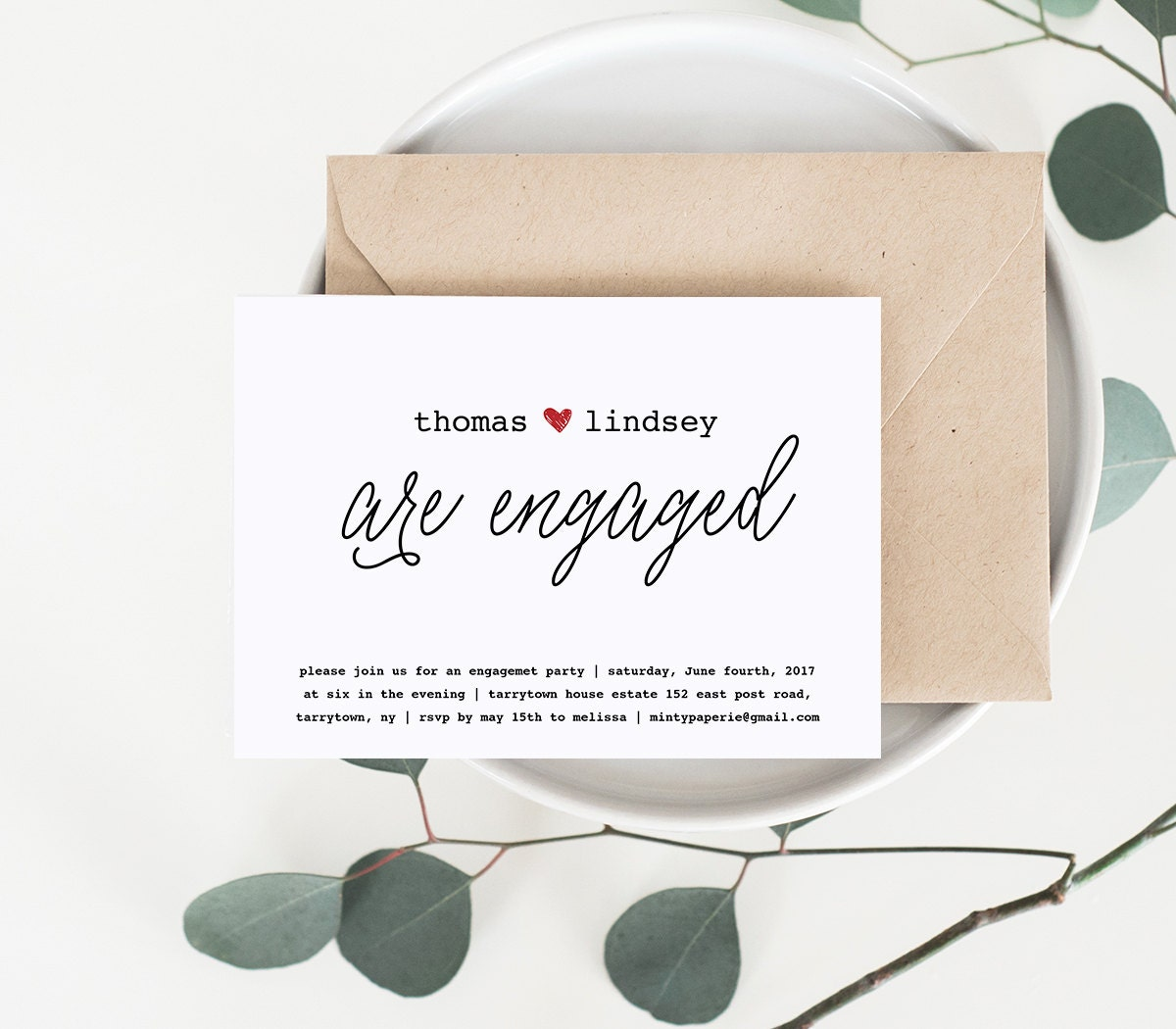 Engagement Party Invitation Printable Wedding Engagement Invite – Engagement Party Template