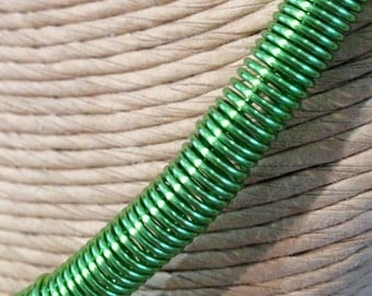 Chartreuse coiled wire necklace
