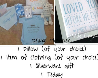 Personalised Little Legends Deluxe baby hampers... The perfect birth gift, new born, hampers