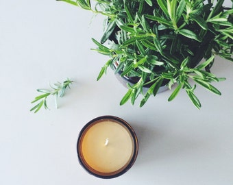 rosemary mint pure soy candle in a 9oz jar