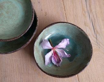 Earth and sea dessert bowls